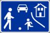 Rue à circulation réduite et vitesse limitée