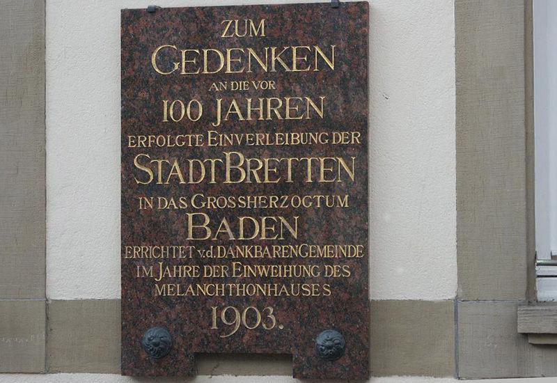 Файл:Informationsschild am Alten Rathaus in Bretten.jpg